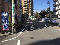 富田・阿倉川方面(国道1号線)から車で